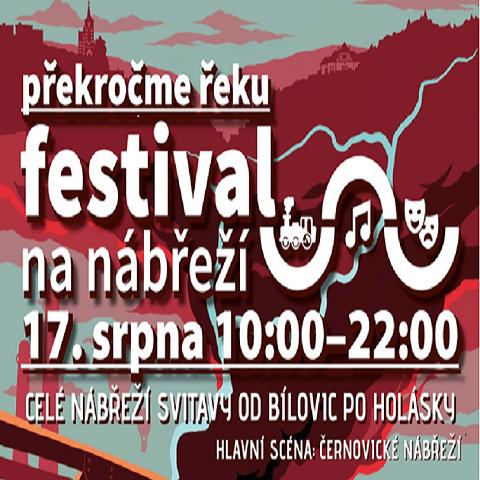 Festival - nábřeží Svitavy od Bílovic po Holásky