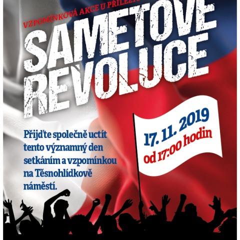 Vzpomínková akce u příležitosti 30.výročí SAMETOVÉ REVOUCE