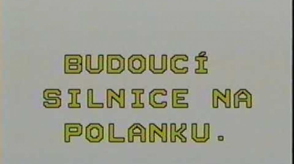 Archívní záběry zachycující rekonstrukci kanalizace na ul. Žižkova a plánování budoucí silnice na Polanku - rok 1995